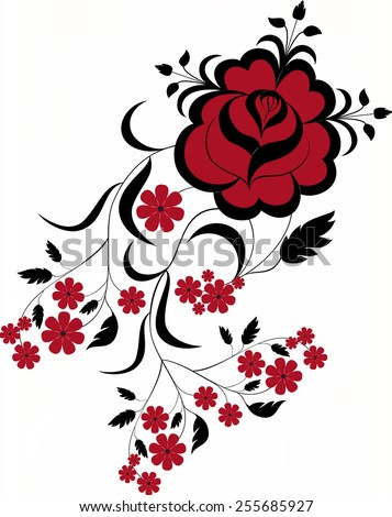 Beautiful floral background - raster - stock photo