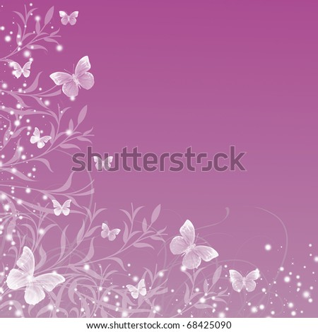 Beautiful floral pattern.wedding invitation with floral patterns or greeting card - stock photo