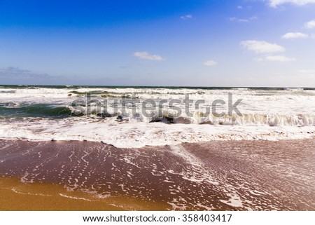 beautiful Florida atlantic sea waves landscape  - stock photo