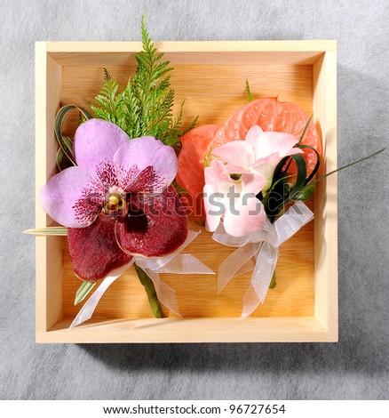 beautiful flower corsage - stock photo