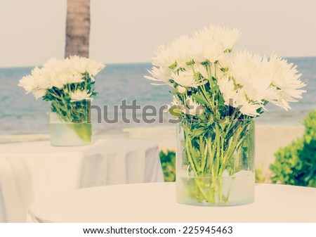 Beautiful flower in the vase process vintage instagram effect style picture - stock photo