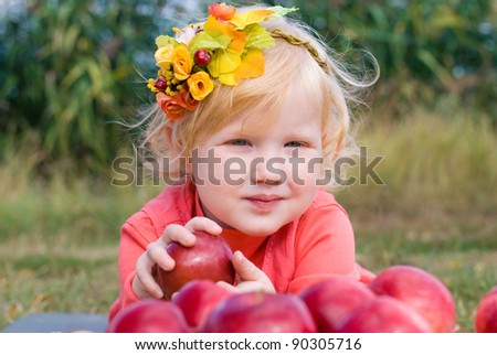 Beautiful girl at the nature - stock photo