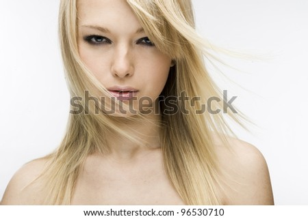 beautiful girl blonde - stock photo