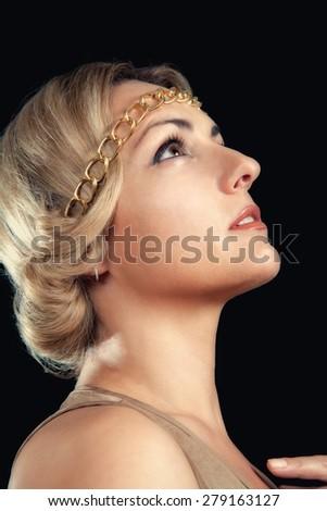 Beautiful Girl in the Greek style - stock photo