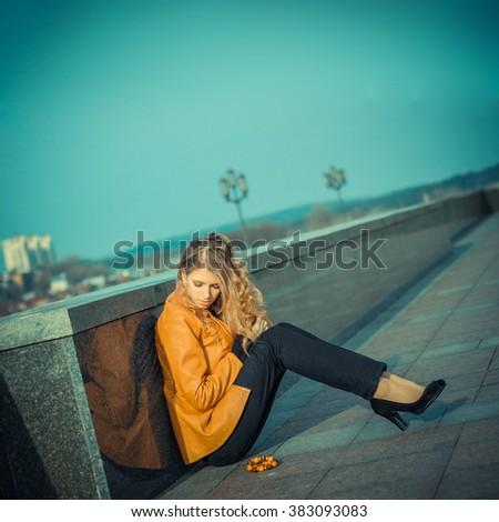 Beautiful girl praying. girl and a prayer - stock photo