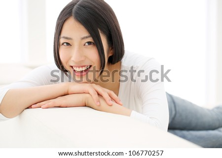 Beautiful girl relaxing - stock photo