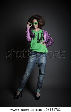 beautiful girl shoot in the studio/beautiful girl 6/ - stock photo