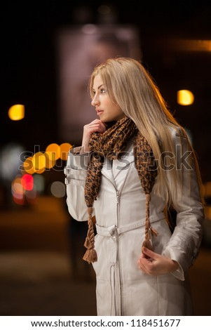 stock photo beautiful girl walk through a night city street 118451677 Matchmaking For Foreign Couples