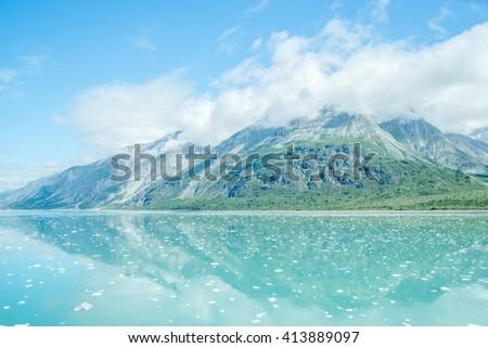 Beautiful Glacier Bay National Park in summer in Alaska  - stock photo