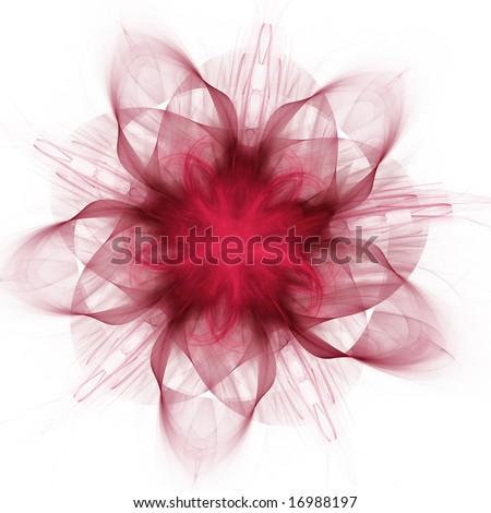 Beautiful glowing fractal design background. Flower element. - stock photo