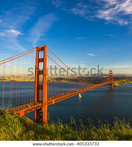 Beautiful Golden gate bridge, San Francisco, California - stock photo