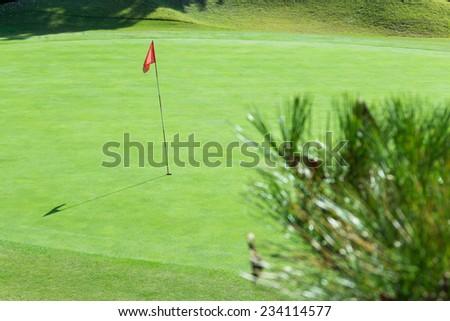 Beautiful golf course - stock photo