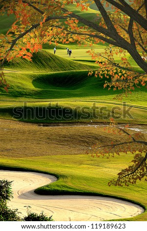 Beautiful Golf Course for adv or others purpose use - stock photo