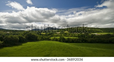 Beautiful green countryside of Ireland - stock photo