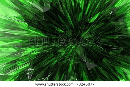 beautiful green crystal background - stock photo