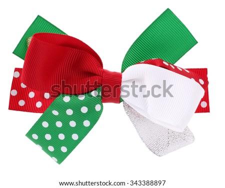 Beautiful hair bow tie - stock photo