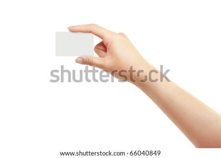 Beautiful hand - stock photo