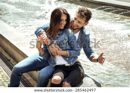 Beautiful happy couple  - stock photo