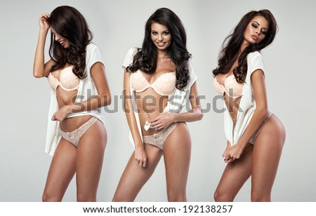 Beautiful happy sexy woman  - stock photo