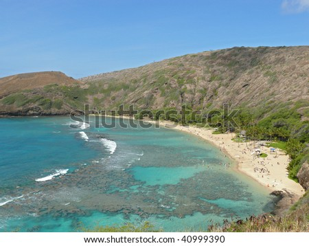 Beautiful Hawaii beach - stock photo