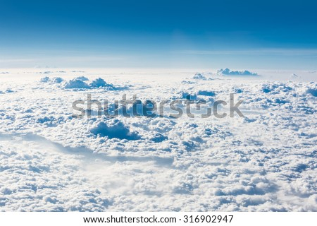 Beautiful heaven on the Cloud - stock photo