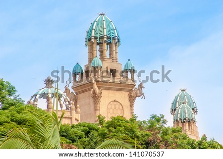 Beautiful hotel at Summer in San City ,South Africa - stock photo
