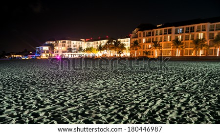Beautiful Hotel at the beach - stock photo