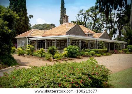 Beautiful house in Kenya - stock photo
