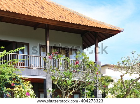 Domaine les pailles stock photos images pictures - Beautiful houses with balcony ...