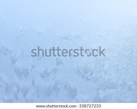 Beautiful ice pattern on frozen window seamless background  - stock photo