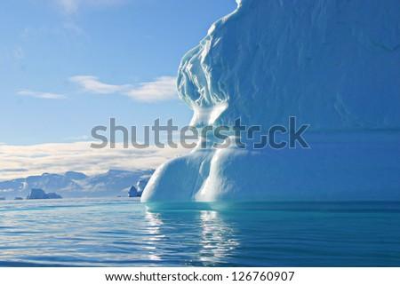 beautiful iceberg - stock photo