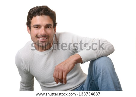 Beautiful image of a very handsome man - stock photo