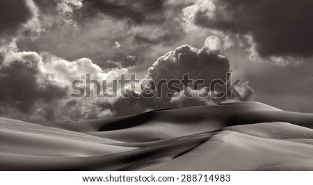 Beautiful Image of the Imperial Sand dunes near San Diego, California - stock photo