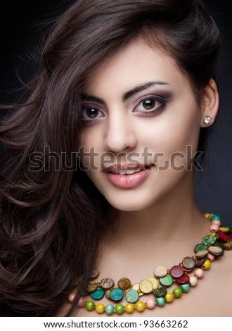 beautiful indian girl - stock photo