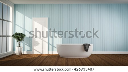Beautiful Interior of a vintage Bathroom 3d rendering  - stock photo