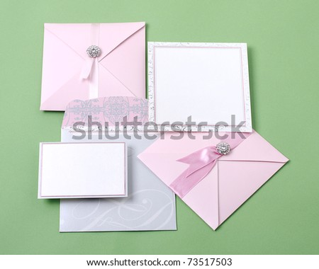 Beautiful invitation cards for your choice - stock photo