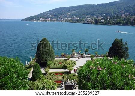 Beautiful Isola Bella on Lake Maggiore in Italy - stock photo