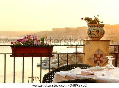 beautiful Italian view - stock photo
