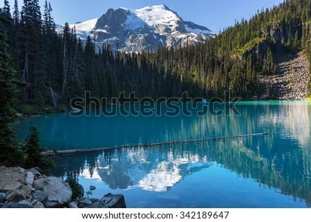 Beautiful Joffre lake in Canada - stock photo