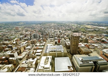 Beautiful johannesburg cityscape - stock photo