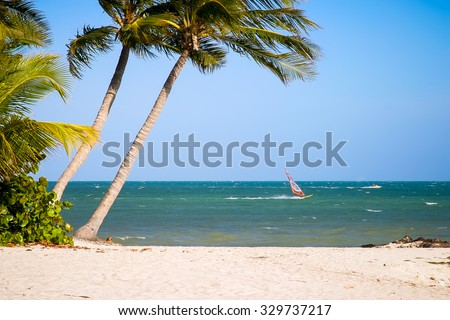 Beautiful Key West Beach Scene - stock photo