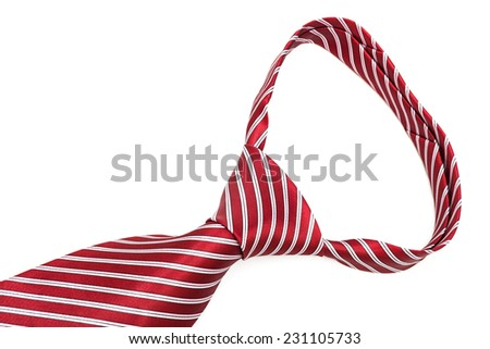 beautiful knot red tie close up - stock photo
