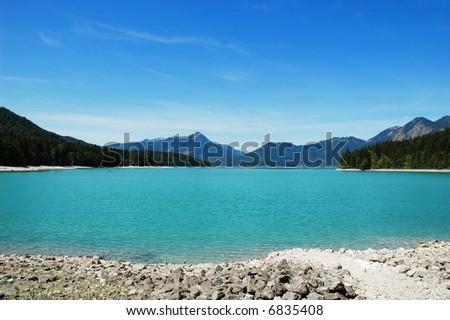 Beautiful lake in Germany - stock photo