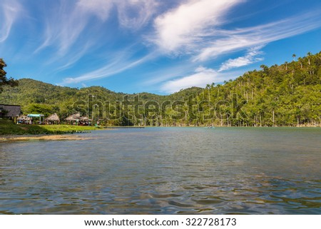 Beautiful lake in Vinales Valley, north of Cuba - stock photo