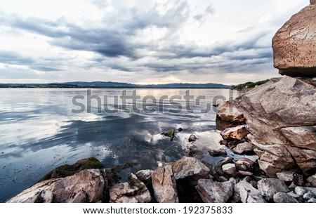 Beautiful lake, landskape 6 - stock photo