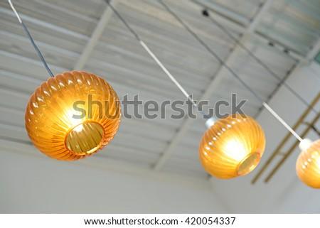 beautiful lamp - stock photo