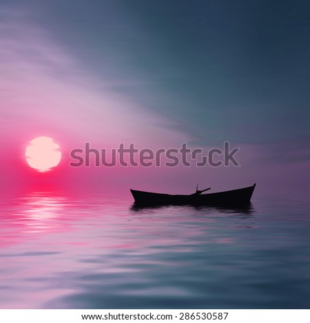 Beautiful landscape - stock photo