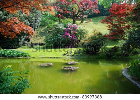 Beautiful landscape background - stock photo