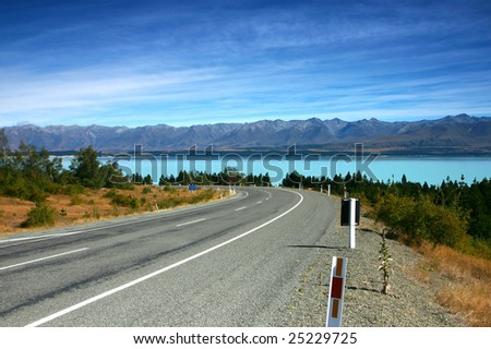 Beautiful landscape from new Zealand - stock photo