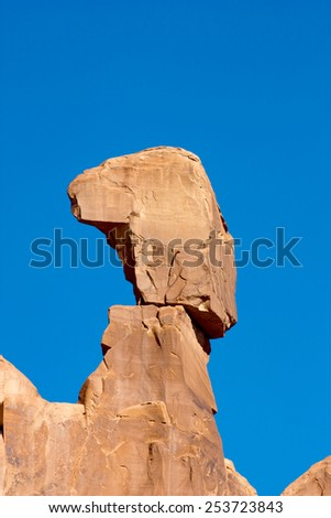 Beautiful landscape in Arches National Park, Utah, USA. - stock photo